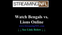Watch Bengals Lions Game Online | Cincinnati Bengals vs DETROIT Lions Live Stream NFL Week 7