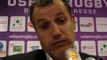Rugby Pro D2 - Le président de l'USB CHristophe Niogret réagit après USB - Albi