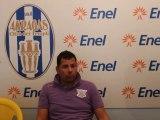 Conferenza stampa con l'allenatore della Nuova Gioiese a fine gara tra l' Akragas vs Nuova Gioiese finita 2-1 per i biancoazzurri.
