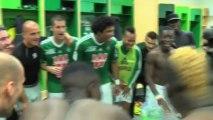 La joie des Verts après ASSE 3-2 Lorient
