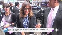 "Rashida Jones Slams Female Celebrities: ""Stop Acting Like Whores"""