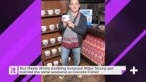 Boy Meets World Wedding Bonanza! Rider Strong Got Married The Same Weekend As Danielle Fishel!