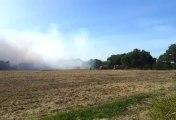 Vannes. Important feu d'espaces verts