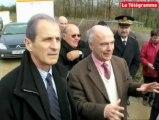 Hubert Falco en visite dans les Côtes d'Armor