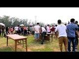 Enjoying arm wrestling at the 50th Naga Fest'13