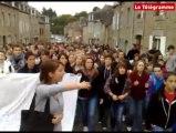Guingamp (22). 400 lycéens dans la rue