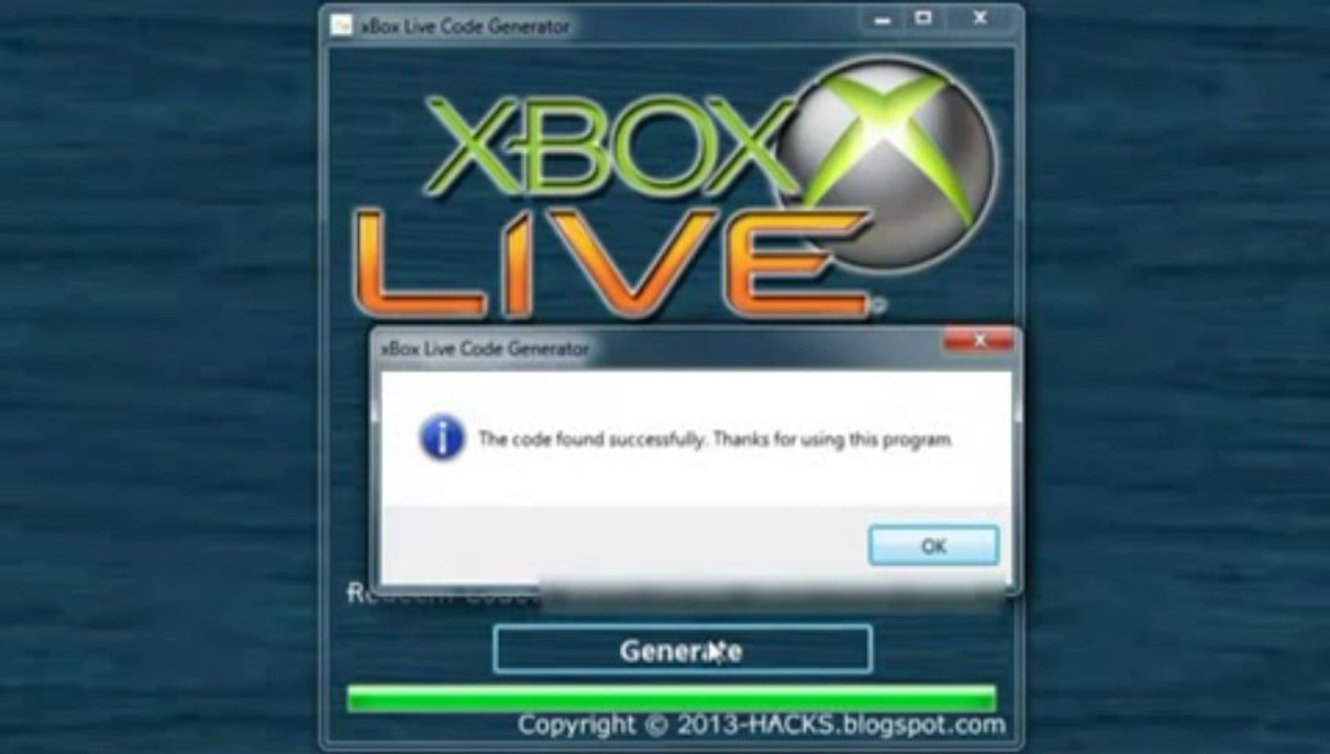 UPDATED] Download xBox Live Code Generator 2013 for free [TESTED and WORK]  xvid -
