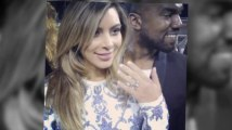 Kim Kardashian Shows Her Ring After Engagement to Kanye West