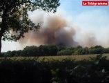 Clohars-Fouesnant (29). Plusieurs hectares partent en fumée