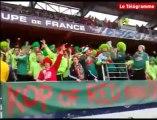 Locminé-PSG. Les supporters bretons chantent chez eux puis au stade