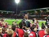 100 ans d'En avant Guingamp. Didier Drogba acclamé par le public