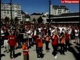 Rennes (35). Flash mob des jeunes catholiques