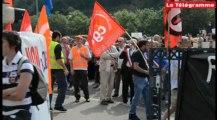 Quimper (29). Doux : salariés et élus ont manifesté
