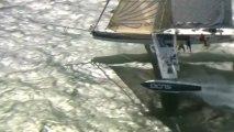 Record de vitesse battu par l'Hydroptère DCNS dans la baie de San Francisco