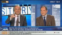 BFM Story: le match des municipales à Marseille: UMP, PS et FN dans un mouchoir de poche - 23/10