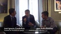 Jose Ignacio Conde-Ruiz y Juan Rubio-Ramírez, coautores de 'Economía de urgencia'. 23-10-2013