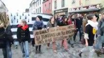 Notre-Dame-des-Landes. Des lycéens défilent à Carhaix
