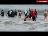 Perros-Guirec (22). 80 nageurs le jour de l'an