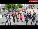 Morlaix. Danse. 400 collégiens et lycéens investissent les places de Morlaix