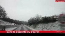 Morlaix-Lannion. Matinée de neige sur les routes