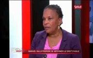 24h Sénat - Christiane Taubira à propos du droit d'asile