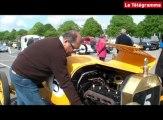 Brest. Départ du Tour de Bretagne des véhicules anciens