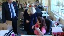 Duchess of Cornwall visits poppy factory