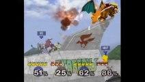 Super Smash Bros. Melee   Team Melee Gameplay   Part 1   Nintendo GameCube (GCN)   Corneria