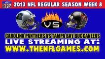 (((Watch))) Carolina Panthers vs Tampa Bay Buccaneers Live Stream Oct. 24, 2013