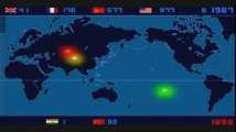time lapse video of world nuclear explosions