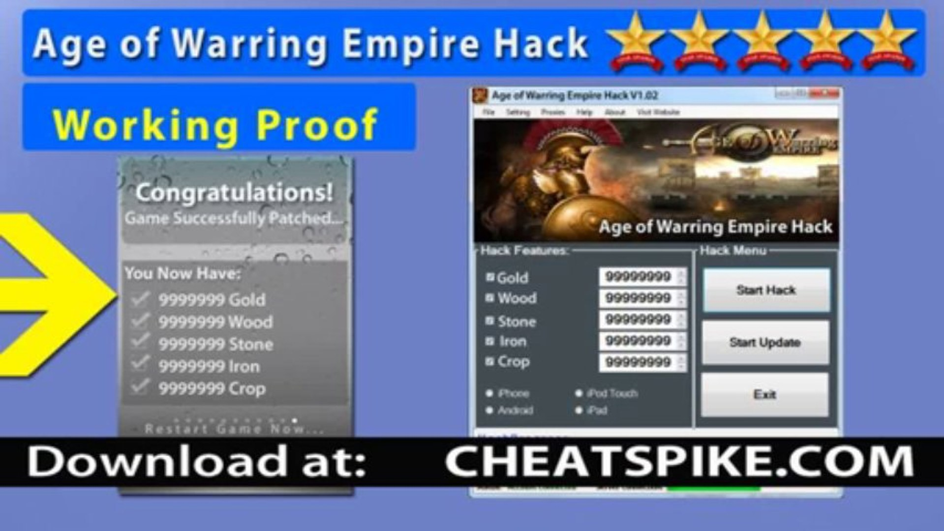 Age of Warring Empire Hack Get Gold, Wood, Stone and More Works on iPad *Best Age of Warring Empire