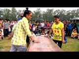 Naga youth cheers for the arm wrestlers at Naga Fest'13