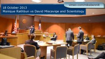 Monique Rathbun v David Miscavige and Scientology: motion ruling |18 Oct 2013