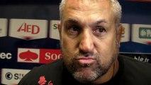 Rugby Top 14 - Christophe Urios réagit après Grenoble - Oyonnax