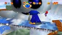 Super Mario 64 - Chez le Roi des Neiges - Etoile 1 : Grosse tête du bonhomme