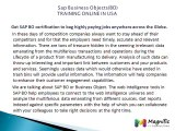 Sap Business Objects(BO) TRAINING ONLINE IN USA@magnifictraining.com
