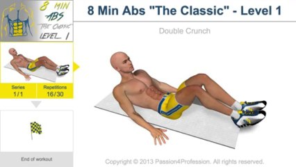 8 Minutes Abs Workout - Level 1