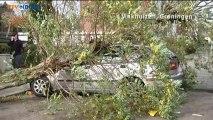 Beelden van stormschade in Groningen - RTV Noord