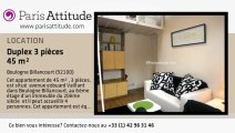 Duplex 2 Chambres à louer - Boulogne Billancourt, Boulogne Billancourt - Ref. 6490