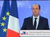 François Hollande annonce la libération des quatre otages français au Niger - 29/10