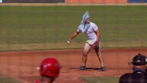 San Diego State University Baseball Players Play In Halloween Costumes