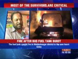 40 burnt alive as bus catches fire