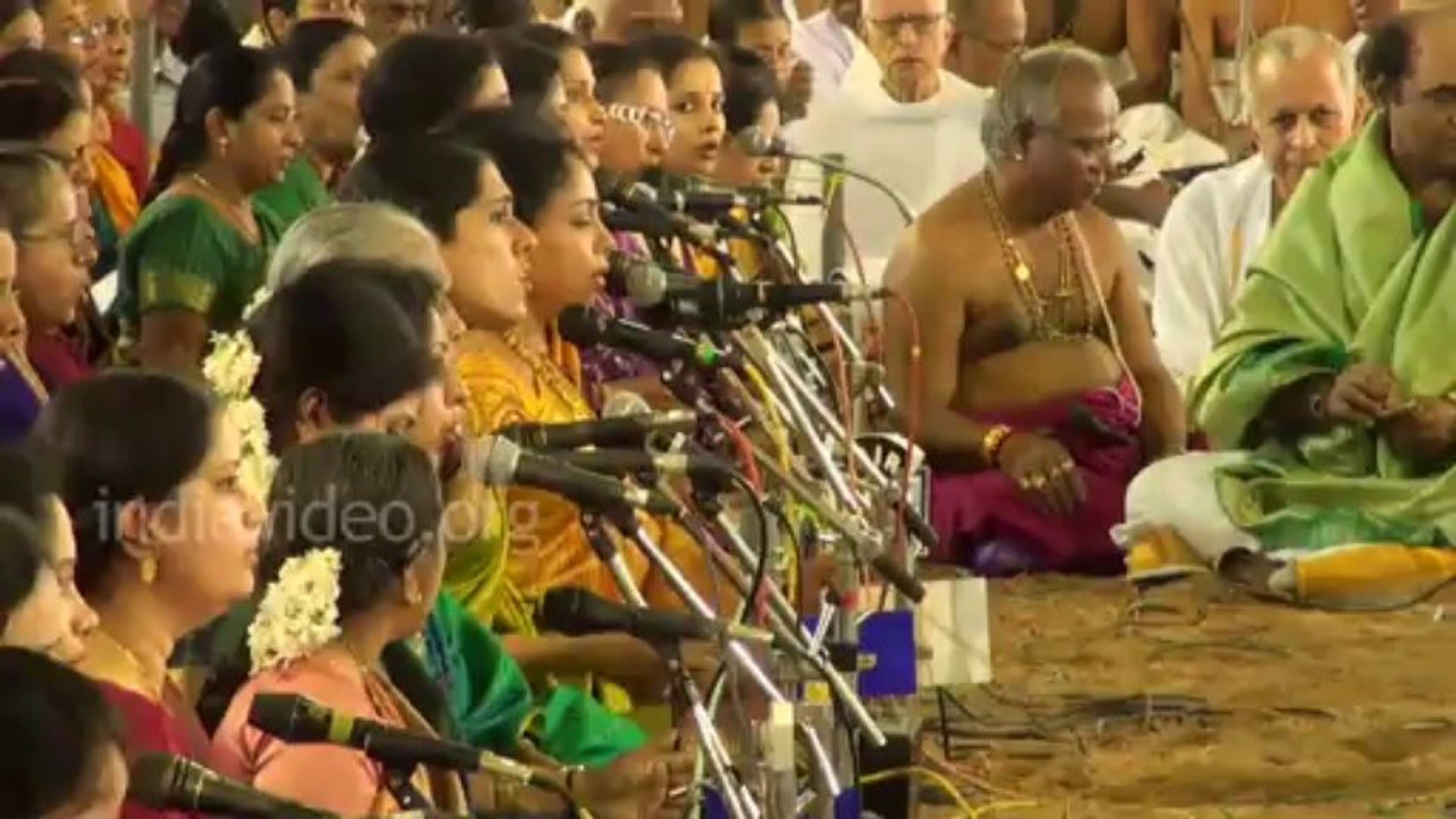 Hundreds of Musicians at Thyagaraja Music Festival