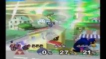 Super Smash Bros. Melee | Melee Gameplay | Match 1 | Nintendo GameCube (GCN) | Onett, Widescreen