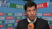 Trainer Erwin van de Looi na afloop van de wedstrijd tegen Capelle - RTV Noord