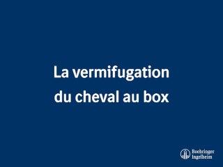 La vermifugation au box