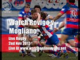 Watch Rugby Live Rovigo vs Mogliano