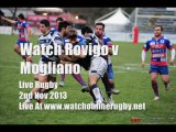 Watch Rovigo vs Mogliano Live Rugby 2nd Nov