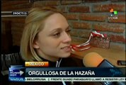 Carolina Valencia destaca en el Mundial de Pesas Polonia 2013