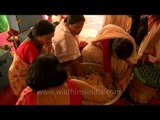 Many rituals during the Durga Puja at CR Park